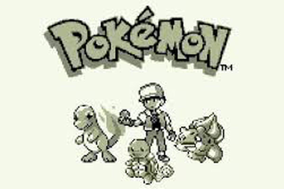 Pokémon Red/Blue intro screen
