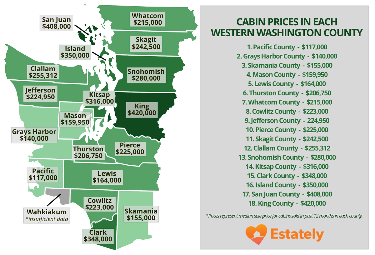 Western Washington cabins: The cheapest (and most expensive) areas on king county map southeast, king county neighborhood map, king county map printable, king county nwmls map area, king county street map, king county parks map, king county unincorporated area map, king county precinct map,