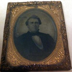 So many Daguerreotype photos (glass images) like this one of Utah's Territorial Governor, Stephen Harding in 1862. Most photos never have identification on them because there was no place to write on the photo. Some people stuck a note inside the case that held the photo.