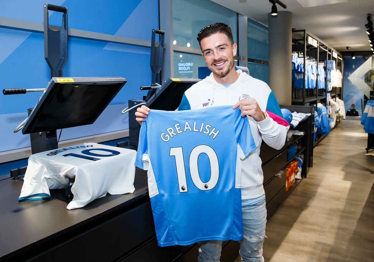 Manchester City Unveil New Signing Jack Grealish