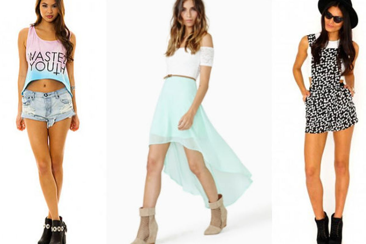 Will the real Nasty Gal please stand up? Karmaloop, left. Nasty Gal, middle. Misguided, right.