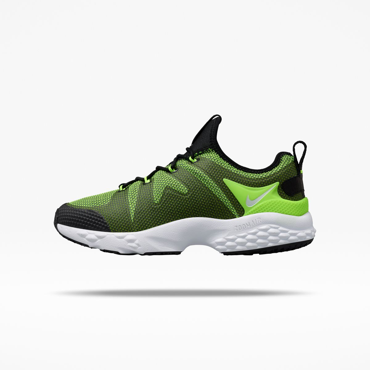 The NikeLab Air Zoom LWP x Kim Jones sneakers in neon green.