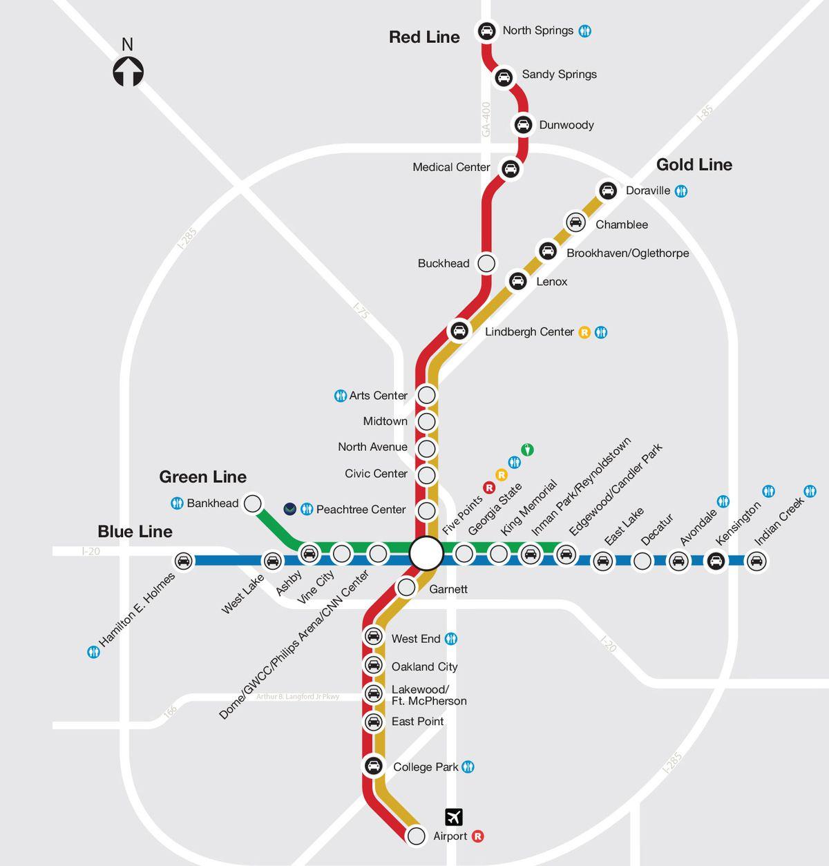 Artist Envisions Atlanta Expressways As Marta Lines