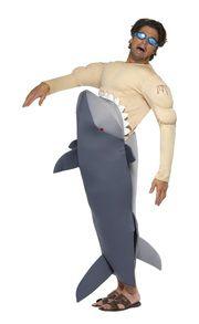 Muscle shirt shark victim costume