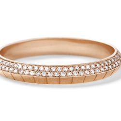 Ascent Band with white diamond pave , 18 carat recycled White gold, 0.40 tcw, $4995