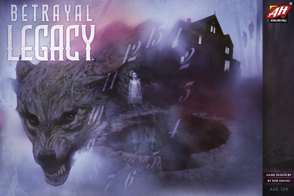 The cover for 2018's Betrayal Legacy features a wolf, a creepy kid, and a weird clock.