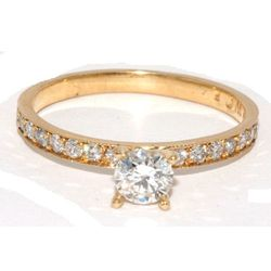 """At <a href=""""http://www.windycitydiamonds.com/"""">Windy City Diamonds</a>, a perfect, sparkly ring comes in white or yellow gold. Pricing depends on several factors, but will ultimately run you less than $1,000."""