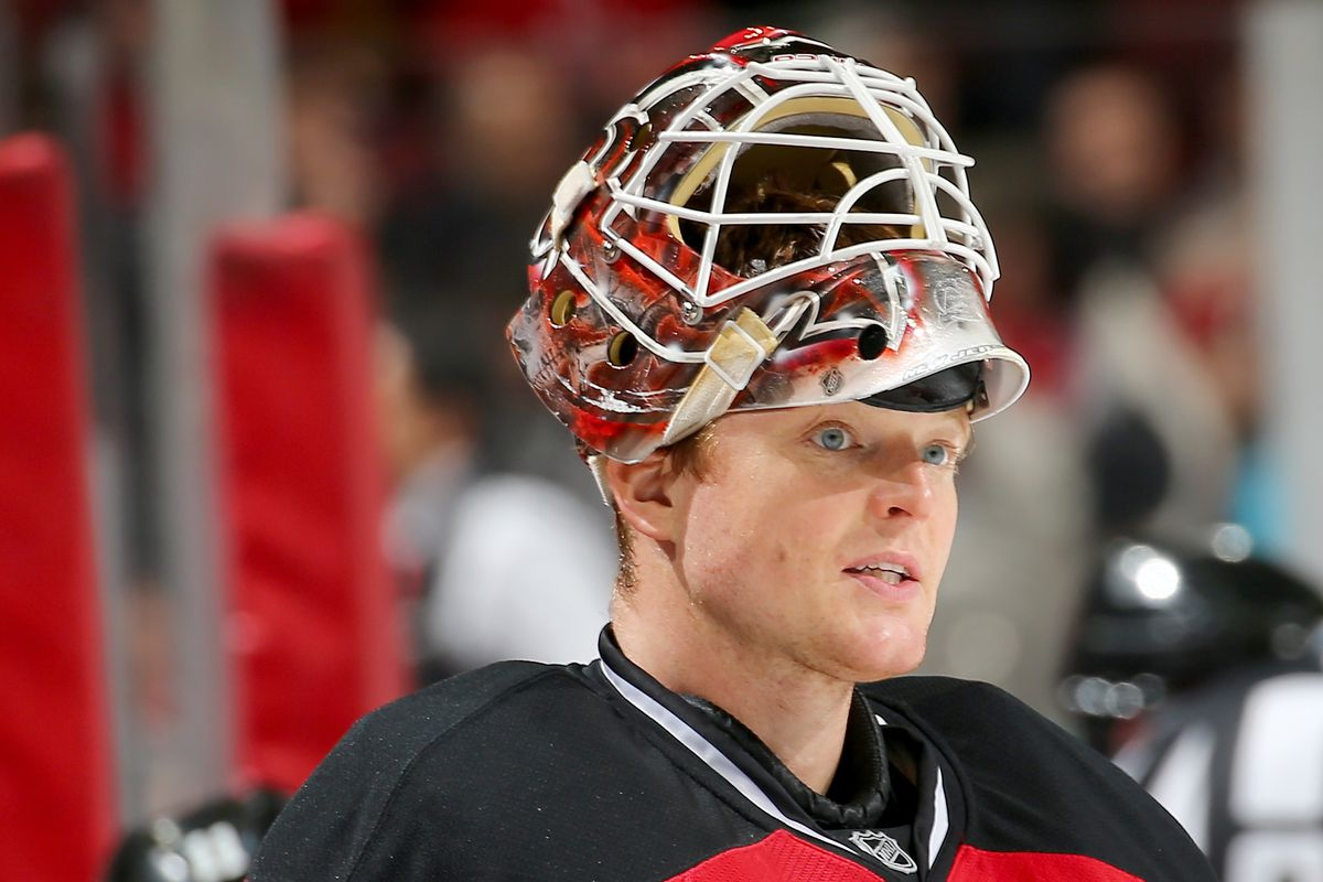 In lieu of a picture from tonight's game, here's Cory Schneider giving somebody a thousand-yard stare.