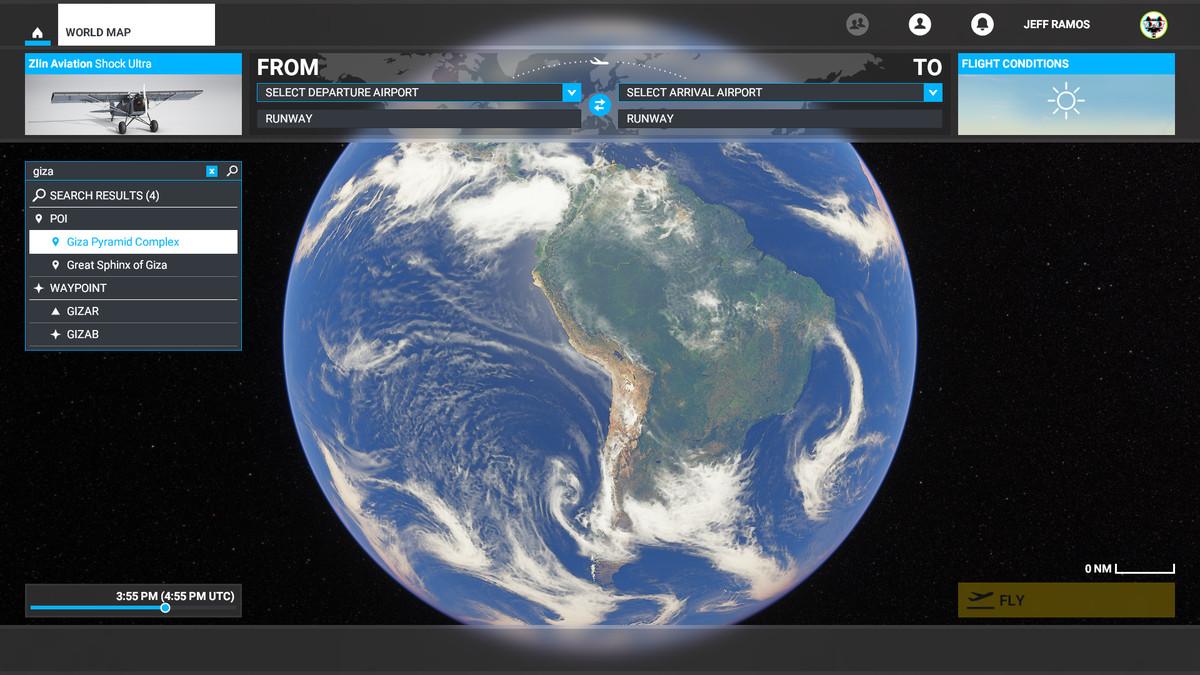 The Great Pyramids location in Microsoft Flight Simulator