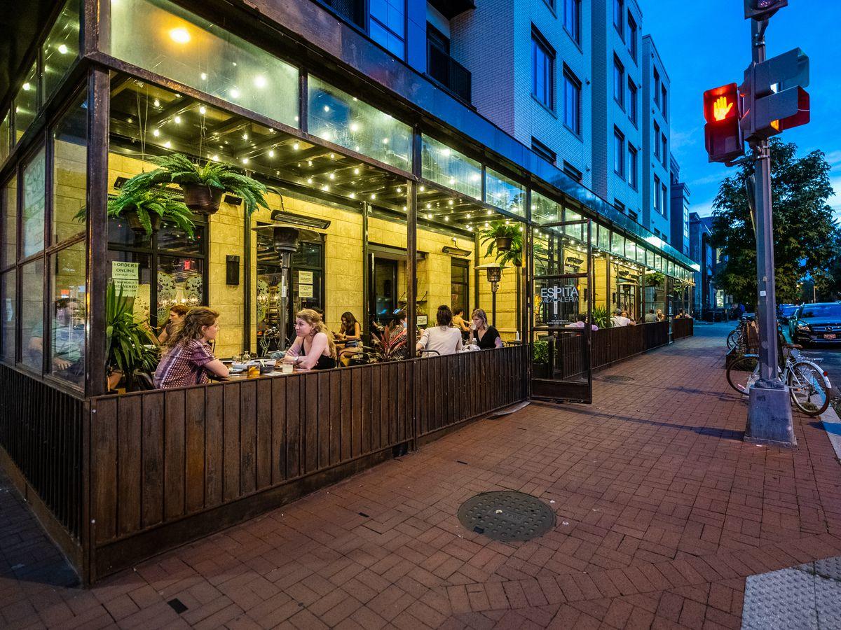 Oaxacan-style restaurant Espita welcoms customers in an open patio
