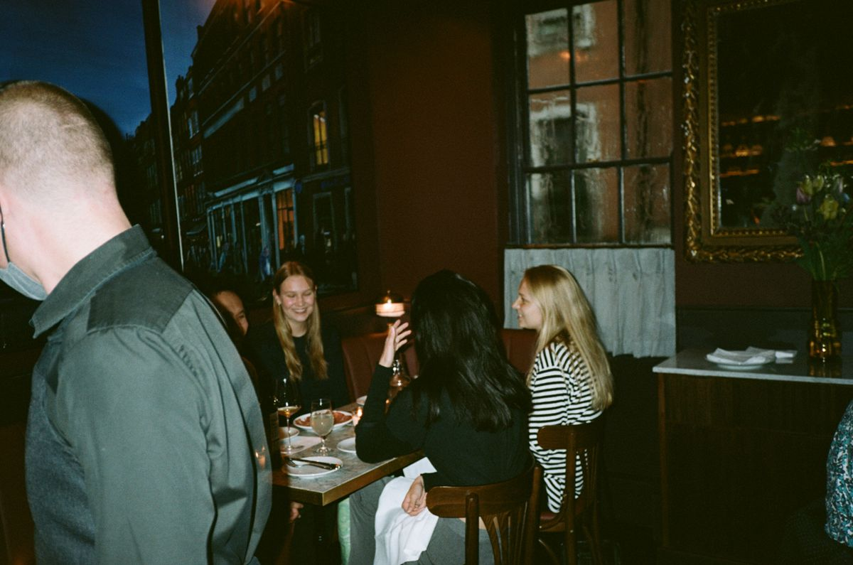 Guests inside Noble Rot, which opened last autumn, weeks before the second national lockdown