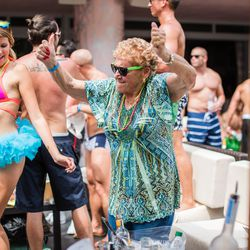 Spotted at Nervo Nation at Hyde Beach at the SLS Hotel