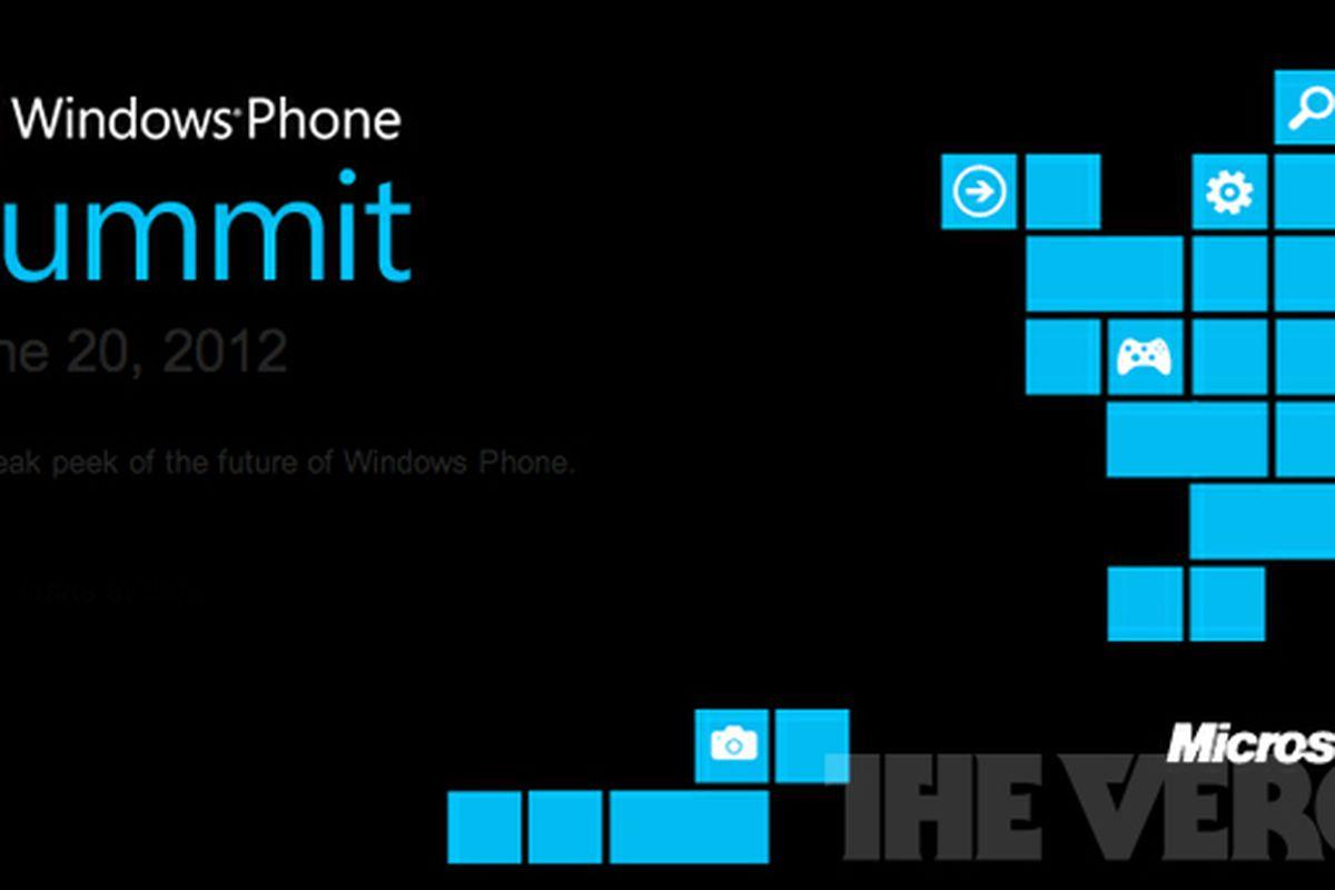 Windows Phone developer summit invite