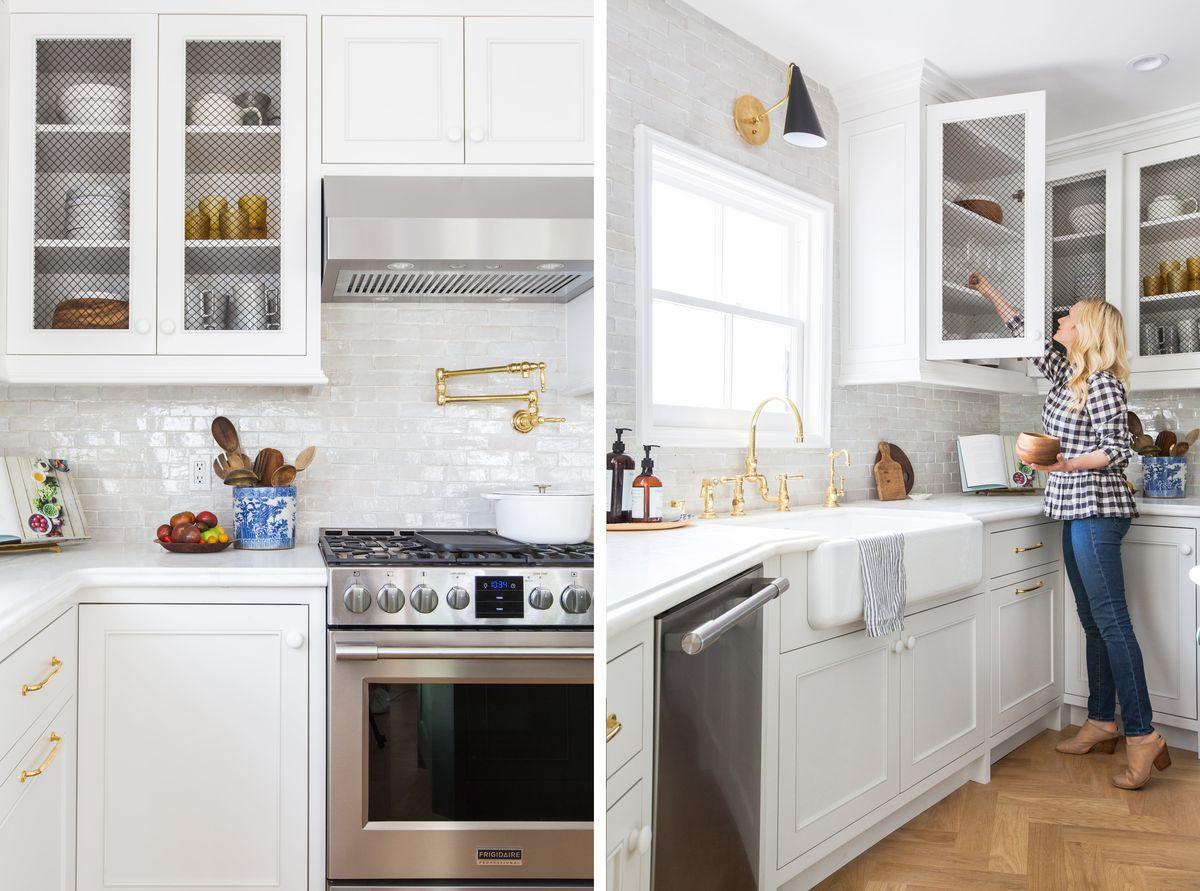 Blogger Emily Henderson's sunny kitchen transformation