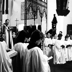 The Festival of Lessons and Carols at St. Mark's Episcopal Cathedral in December 1985.