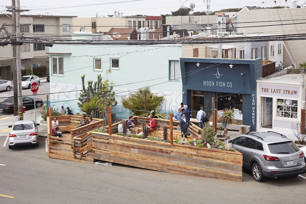 The parklet at Hook Fish Co. will more than double the restaurant's seating