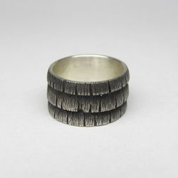 """Weathered Cedar Ring, <a href=""""http://www.hannahblount.com/collections/men/products/weathered-cedar-ring"""">$128</a>"""