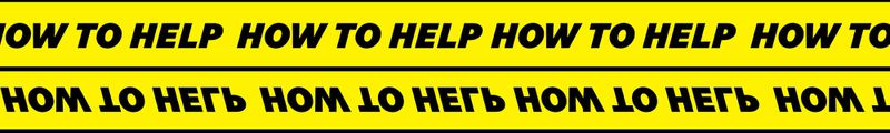 "decorative ""How To Help"" banner"