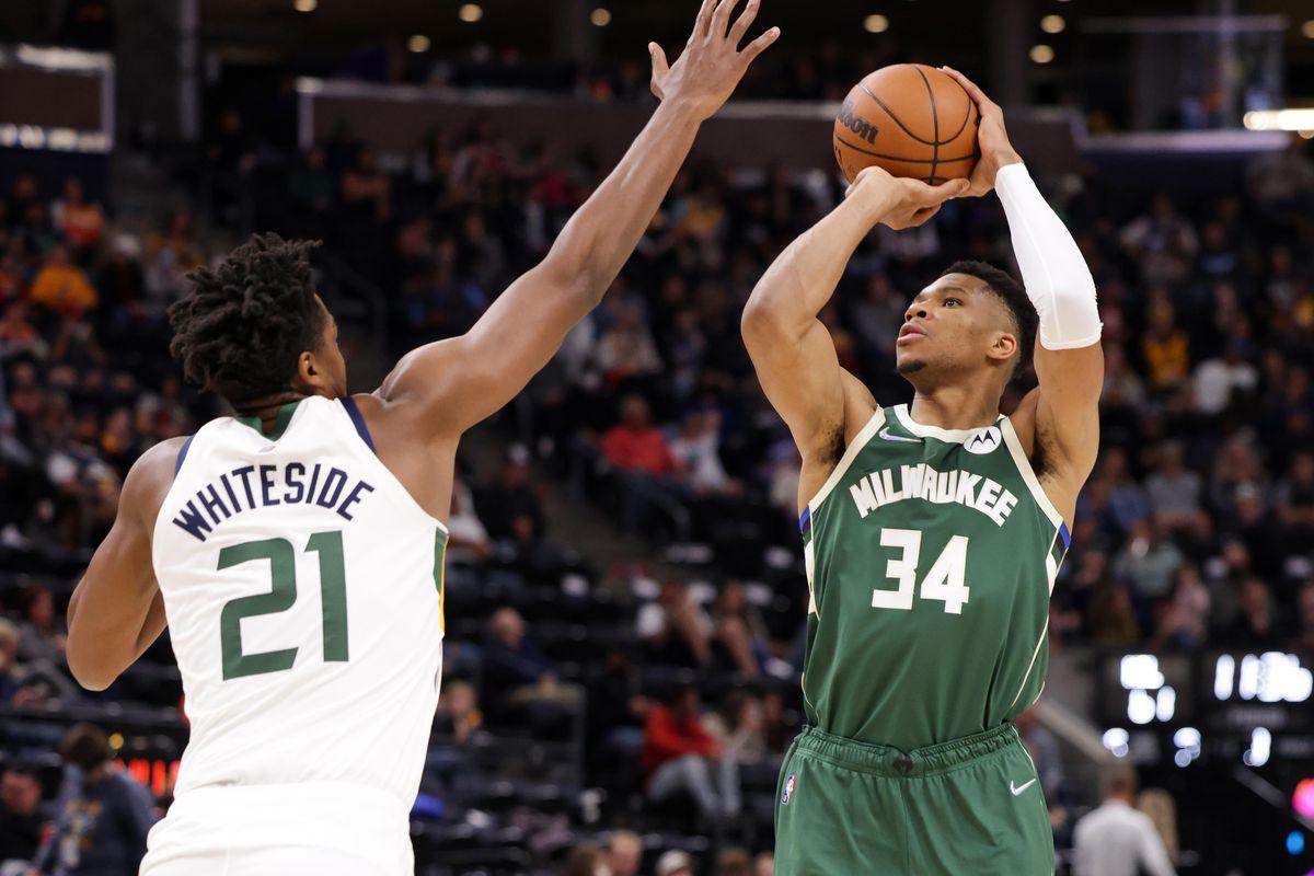NBA: Preseason-Milwaukee Bucks at Utah Jazz