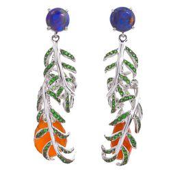 "Katherine Jetter <a href=""http://www.stoneandstrand.com/earrings/vine-earrings"">Vine Earrings</a>, $6,200"