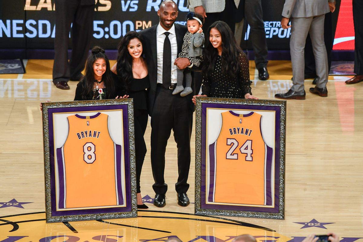 e7c6e61ccf20 Relive Kobe Bryant s incredible Lakers jersey retirement ceremony ...