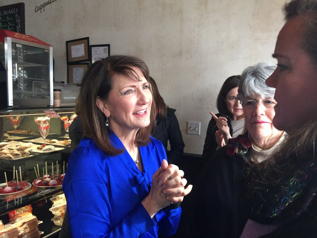 Democratic candidate for the 3rd Congressional District Marie Newman speaks with supporters at a campaign event in LaGrange last month. (AP File Photo by Sara Burnett)