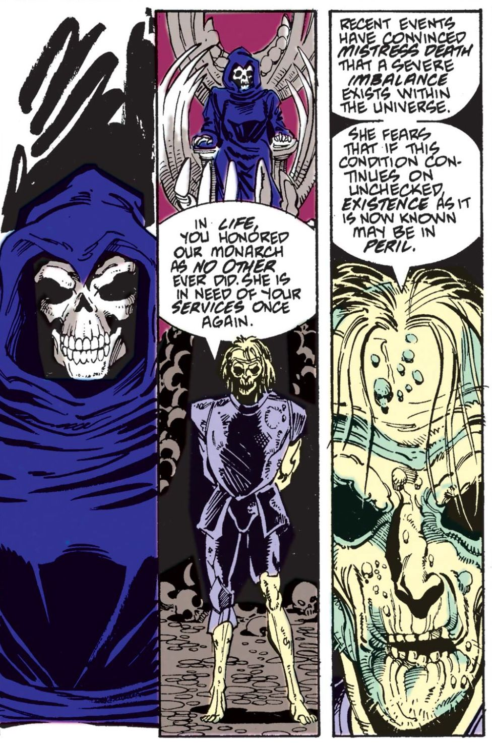 Deputy Mistress Orders Death Thanos to Universe in Silver Surfer # 34, Marvel Comics (1990)