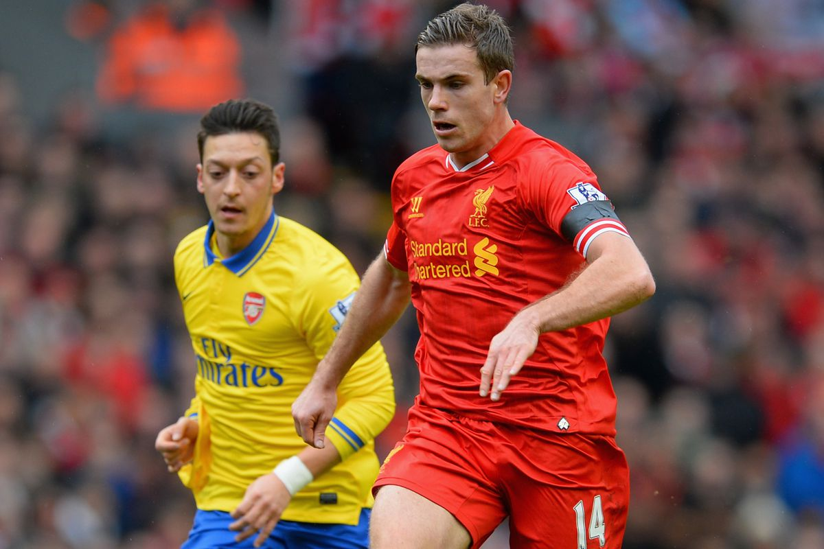 Even Ozil's formidable peepers were unable to follow the blur that is Hendo