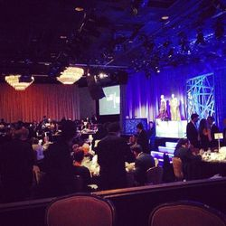 After the exhibit, we took our seats inside Beverly Hilton's International Ballroom.