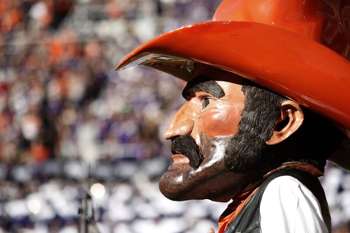 """new style 4b597 610d4 Oklahoma State s mascot back story  Avenged his father by killing 5 men and  haunting the 6th s funeral. """""""