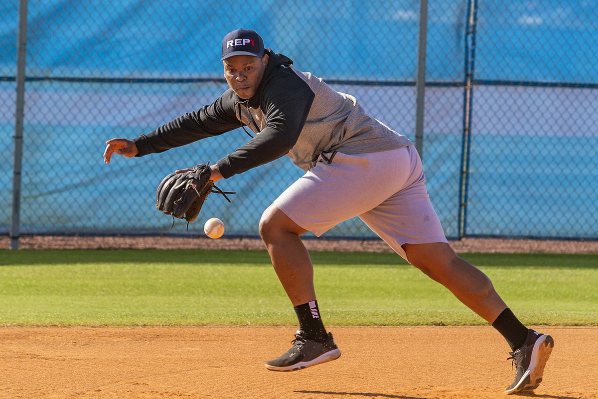 Rafael Devers Trains in Advance for Training