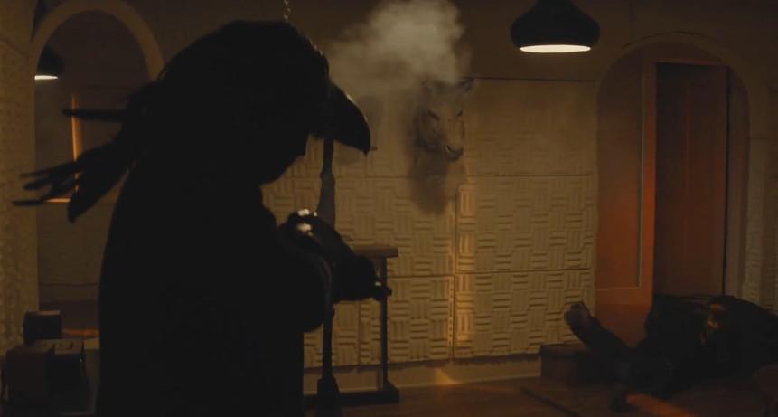 Bird Head shoots Colin Farrell on True Detective.