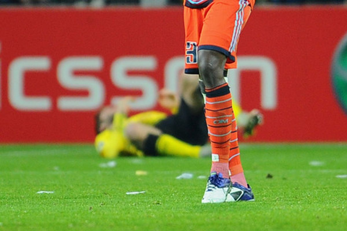 I couldn't resist cropping in such a way that it appears Nicolas N'Koulou has just killed a BVB player