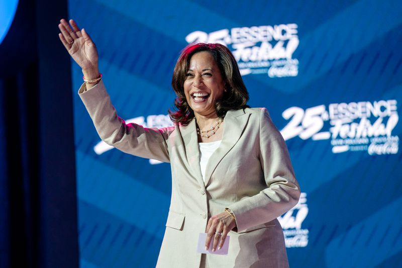 California Senator Kamala Harris speaks during the 25th Essence Festival at Ernest N. Morial Convention Center on July 06, 2019 in New Orleans, Louisiana.
