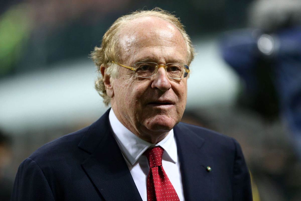 AC Milan President Paolo Scaroni looks on before the serie A...