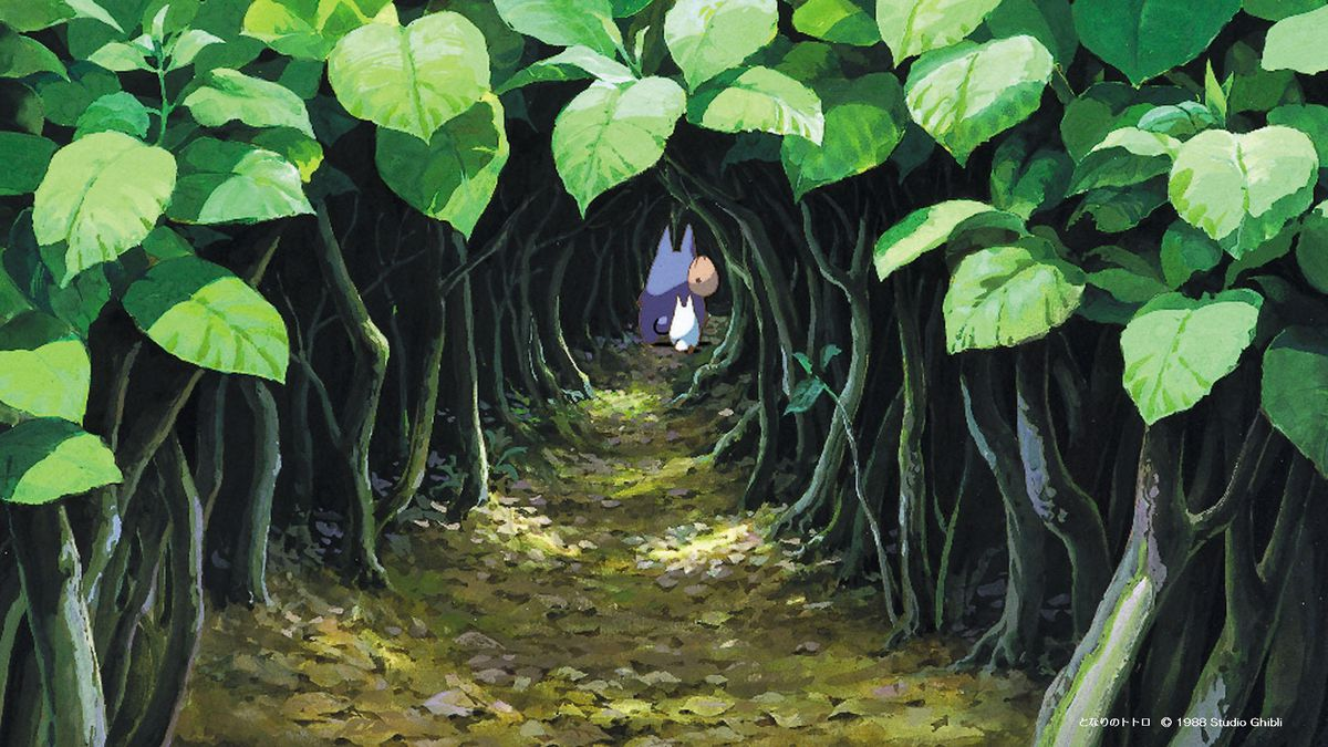 the lush forest gateway from My Neighbor Totoro