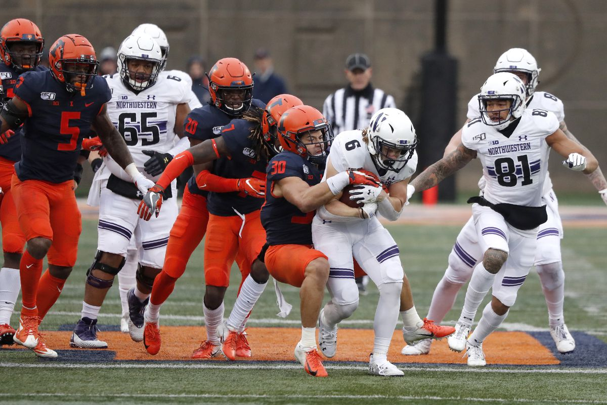 Illinois and Northwestern will face off for the Land of Lincoln trophy on Nov. 27 in Champaign.