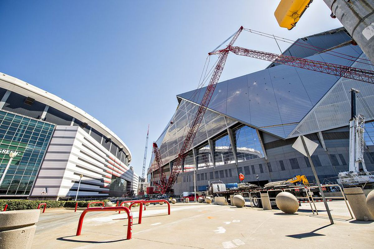 The Georgia Dome and its replacement in Atlanta.