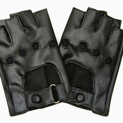 """Boast a badass biker babe look while protecting your palms from later aches and pains. Rizzo faux leather bike gloves, $22 at <a href=""""http://www.nastygal.com/accessories/rizzo-faux-leather-biker-gloves"""">NastyGal</a>"""