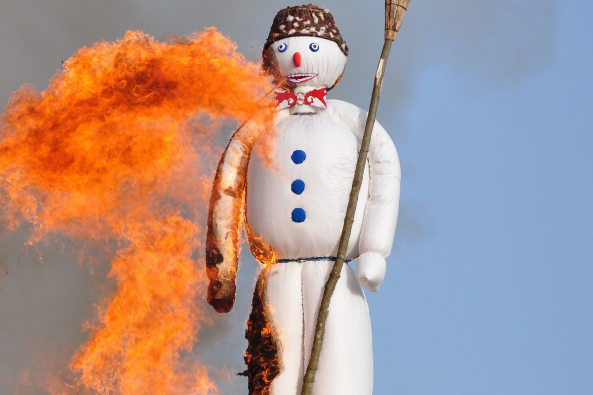 switzerland celebrates the end of winter by blowing up a snowman vox