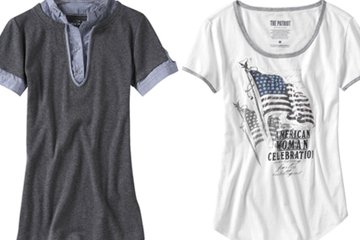 The Gap's commemorative tees: Left $44.50, right $34.50