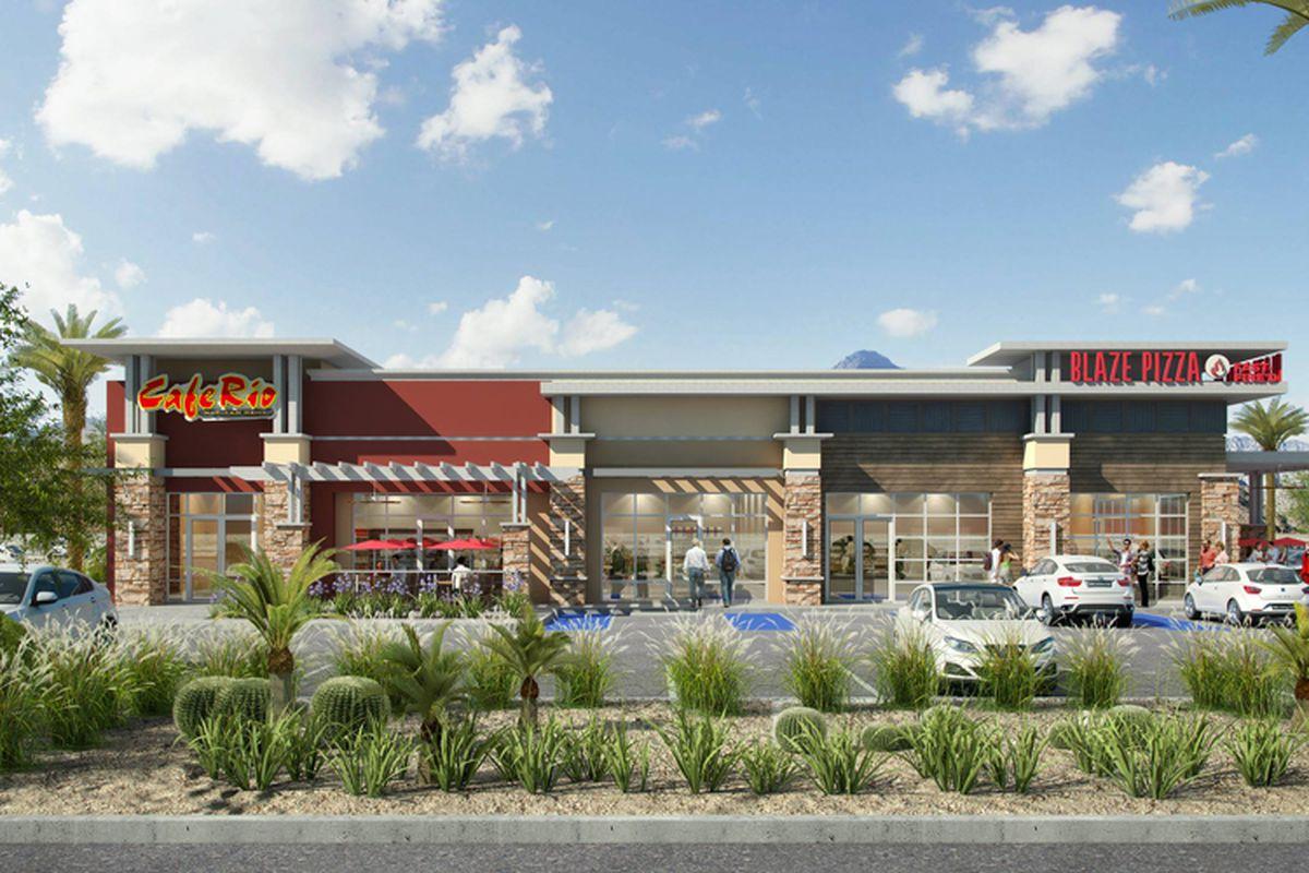 North Las Vegas Restaurant Row Rendering Facebook