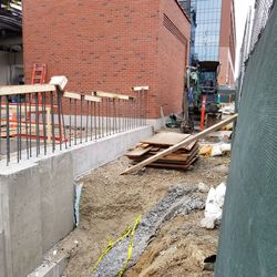 More, construction on Waveland outside the left field gate