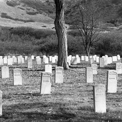Veterans from six wars are buried at the Fort Douglas Cemetery on the east bench of the Salt Lake valley, including World Wars I and II.