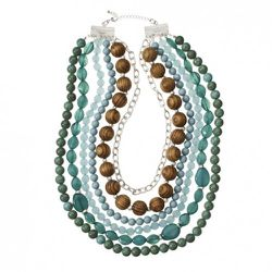 Multi-Beaded Necklace in Turquoise $39.99