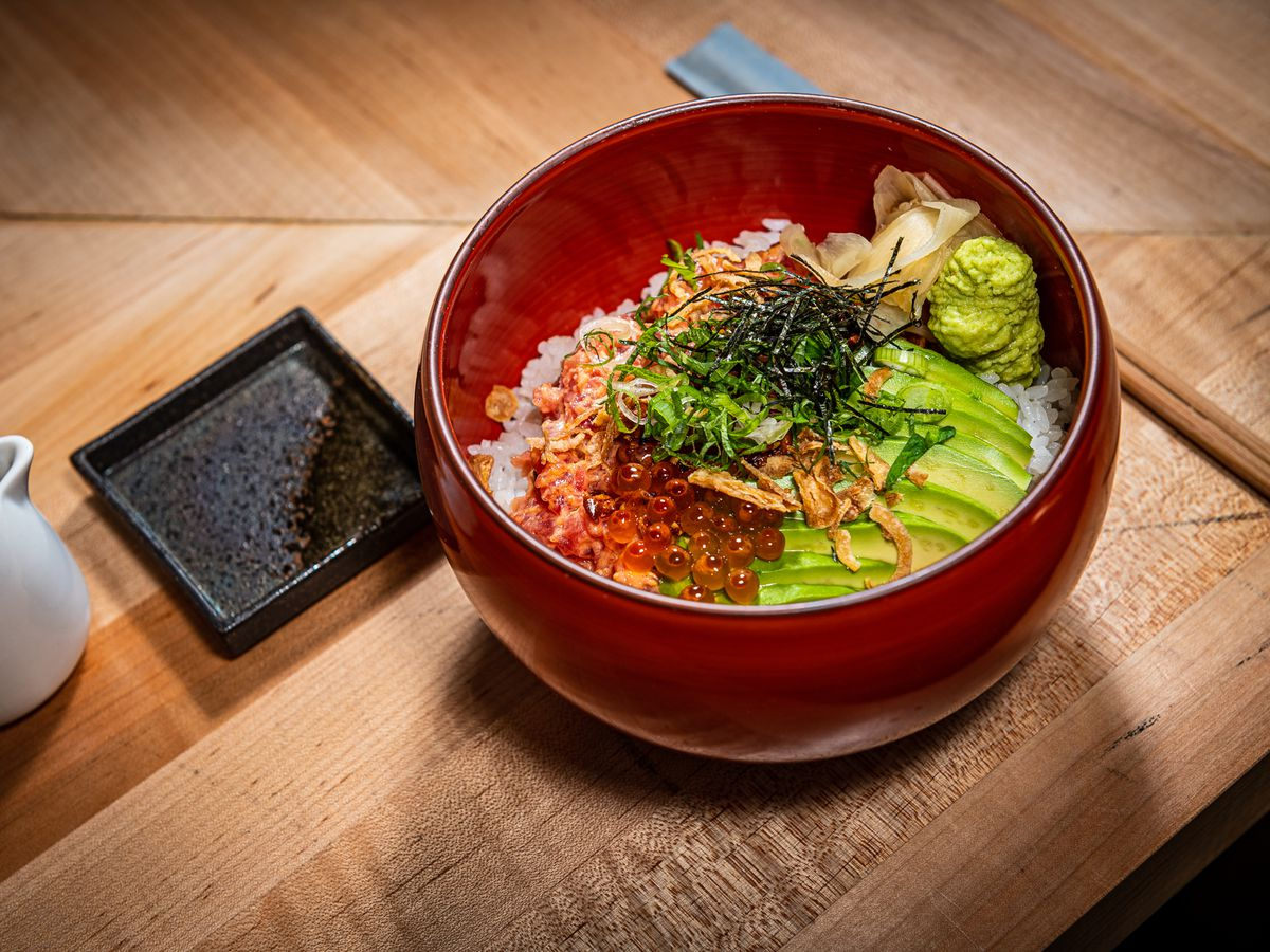 A donburi bowl from Ako at the Roost