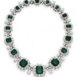 An Emerald & Diamond Necklace, by Bvlgari