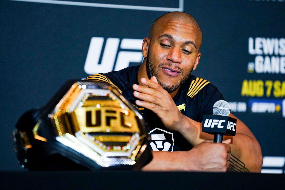 UFC 265: Derrick Lewis vs. Ciryl Gane press conference post fight