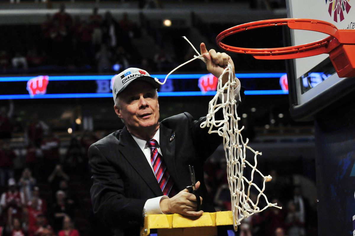 Will Bo Ryan be cutting down the nets in Chicago again this spring? Maybe not, but that's the image we had in our editor, so!
