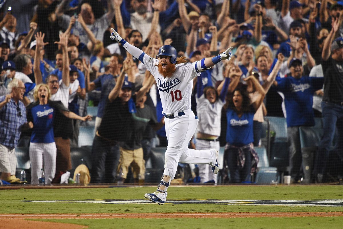 online store 825ac b68e1 Dodgers, Justin Turner walk off against Cubs in NLCS Game 2 ...
